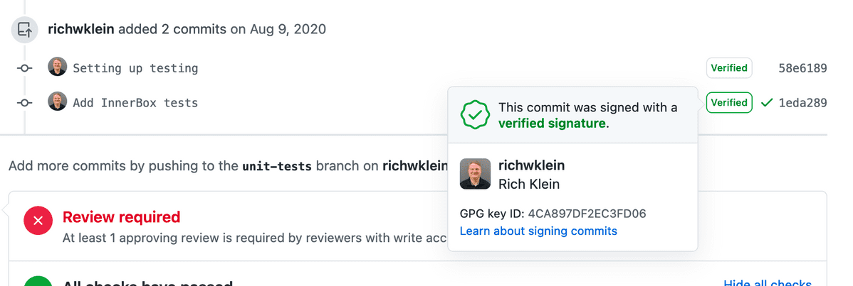 Verified Commit